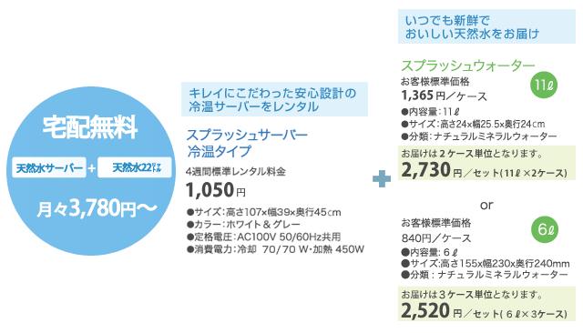 天然水の料金表